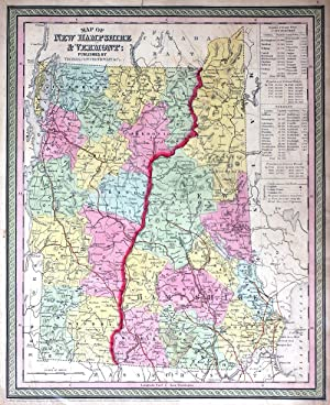 Map of New Hampshire and Vermont: Thomas, Cowperthwait & Co
