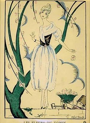 Les Fleurs du Voisin. Robe de Garden-PartyPrint from the Gazette du Bon Ton: Bonfils, Robert
