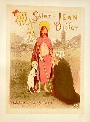 """Affiche pour le Pardon de """"Saint-Jean-du-Doigt"""", Les: Moreau-Nelaton"""