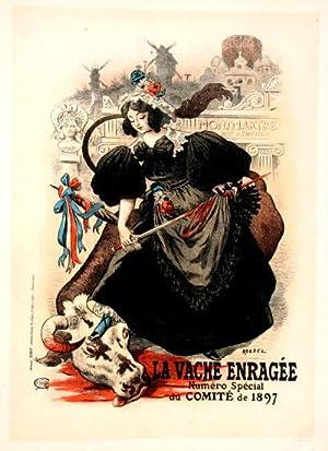 """Affiche pour la """"Vache enragee"""", Les Maitres: Roedel"""