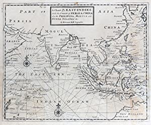 A Chart of ye East-Indies, with the Coast of Persia, China also the Philipina, Moluca and Sunda ...