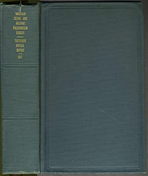 Sixteenth Annual Report, 1911, of the American Scenic and Historic Preservation Society: New York ...