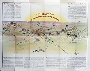 Pictorial map of the Witwatersrand gold fields: Mining; South Africa]