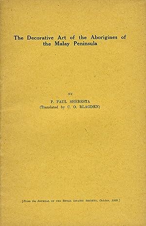 The Decorative Art of the Aborigines of: Shebesta, P. Paul