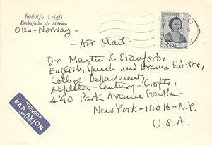 A small archive of literary correspondence from Rodolfo Usigli, 1963 - 1964: Usigli, Rodolfo