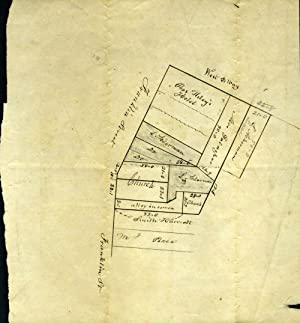 """New York City Map: """"Discription (sic) of L. Ackermans Property in Franklin St & West BWay ..."""