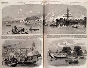China and India as illustrated in the Illustrated London News, 5 complete half yearly volumes fro...
