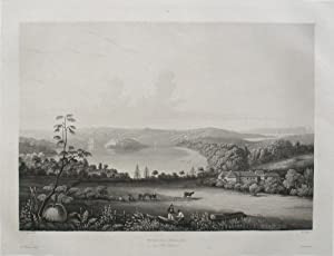 'Vooloo-Moloo au Port Jackson', aquatint of Sydney's Harbour and Garden Cove