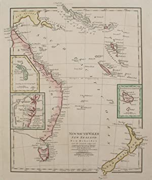 Map: New South Wales, New Zealand, New Hebrides and the Islands Adjacent, comprising the Discover...