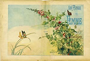 Son Altesse La Femme. Art Nouveau illustrated wrapper: Fraipont, Gustave illustrator; Octave Uzanne...
