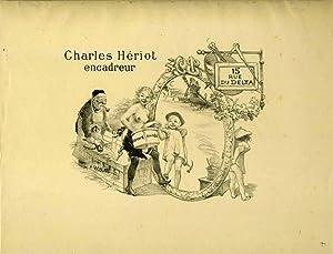 Charles Heriot, encadreur, 15 rue du Delta. Lithograph advertisement for Paris frame maker: ...
