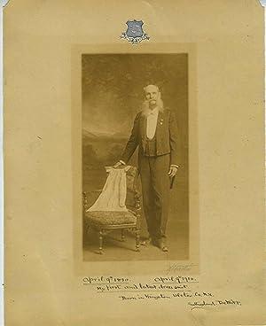 Sutherland DeWitt, Ulster County New York, portrait and manuscript poem: DeWitt, Sutherland