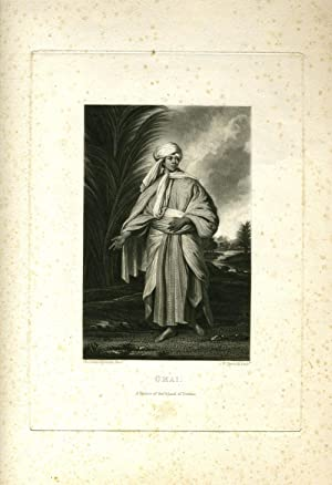Omai, a native of the island of Utietea. Print after a painting by Sir Joshua Reynolds: Reynolds, ...
