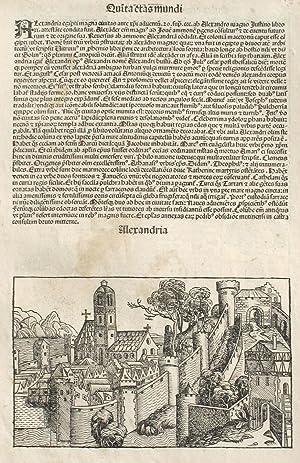 Alexandria, Egypt in the Liber chronicarum- Nuremberg: Schedel, Hartmann; Wolgemuth,