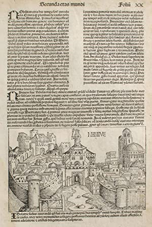 Ninevah in the Liber chronicarum- Nuremberg Chronicle,: Schedel, Hartmann; Wolgemuth,