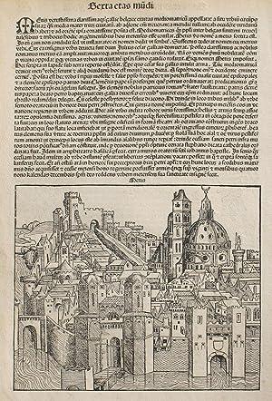 Metz, France in the Liber chronicarum- Nuremberg: Schedel, Hartmann; Wolgemuth,