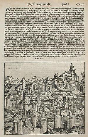 Ravenna, Italy in the Liber chronicarum- Nuremberg: Schedel, Hartmann; Wolgemuth,