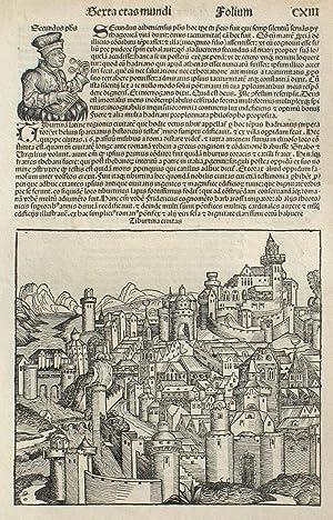 Tivoli, Italy in the Liber chronicarum- Nuremberg: Schedel, Hartmann; Wolgemuth,