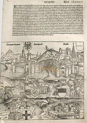 Salzburg, Austria in the Liber chronicarum- Nuremberg: Schedel, Hartmann; Wolgemuth,