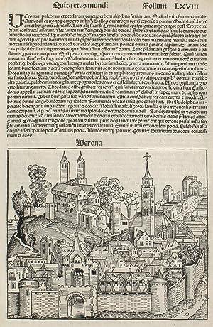 Verona, Italy in the Liber chronicarum- Nuremberg: Schedel, Hartmann; Wolgemuth,