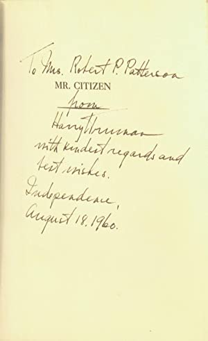 Mr. Citizen: Truman, Harry S.