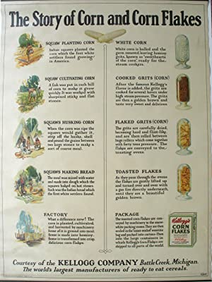 The Story of Corn and Corn Flakes, 1927 rolling poster