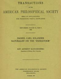 Daniel Carl Solander. Naturalist on the