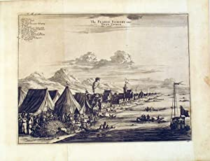 The Pearle Fishery near Toute Couryn, copper engraving from Johan Nieuhoff's 'Voyages and travels...
