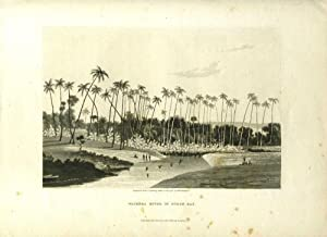 Waikeea River in Byron Bay. Aquatint depicting Hawaiian natives of Byron Bay (Hilo Bay) fishing a...