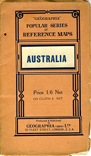 Australia - Political. Folding map in self wrapper
