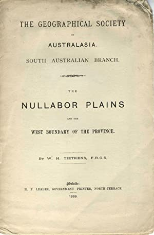 The Nullabor Plains and the West Boundary of the Province. Pamphlet