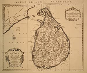 Carte de l'Isle de Ceylon. Insula Ceilon olim Taprobana: De Lisle. Covens & Mortier