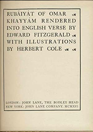 Rubaiyat of Omar Khayyam: Rubaiyat] FitzGerald, Edward; Omar Khayyam