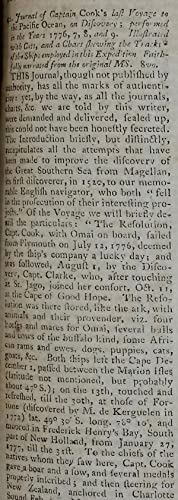 'Journal of Captain Cook's Last Voyage to the Pacific Ocean, on Discovery; performed in the Years...