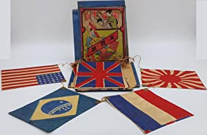 Patriotic Flag decoration made in Japan including flags of the United States, Great Britain, Turk...