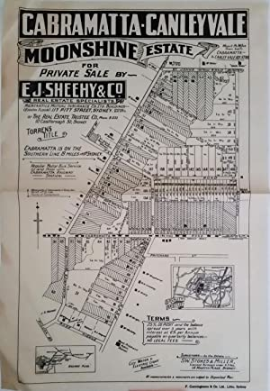 Cabramatta-Canley Vale Moonshine Estate for Private Sale by E.J. Sheehy & Co. with sold lots cros...