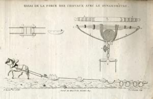 8 Engravings: Crystals, mining machinery & geological formations. French Journal des Mines