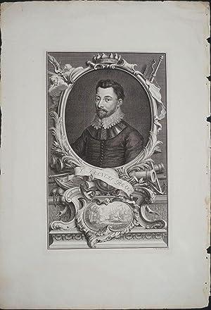 Sir Francis Drake, engraving: Houbraken, J.