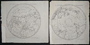 The Northern Hemisphere / The Southern Hemisphere, with Cook's 2nd & 3rd Voyages tracked