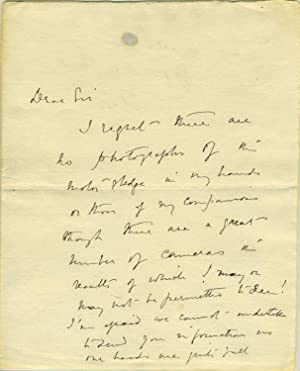 Autograph letter from Scott, written in the Antarctic, possibly one of his last autographs: ...