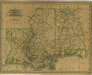 A Map of Alabama, Mississippi and Louisiana from