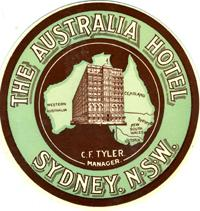 The Australia Hotel, Sydney, NSW, color logo