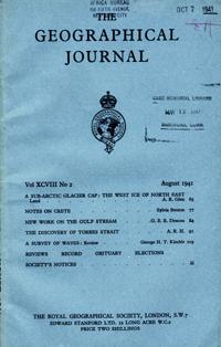 The Journal of the Royal Geographical Society, Monthly issue for August 1941: Torres Strait] Royal ...