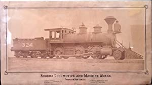 'Rogers Locomotive and Machine Works, Paterson, New Jersey.' Large Albumen photograph on printed ...
