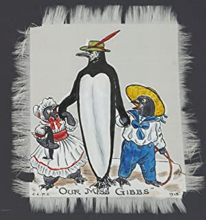 Anthropomorphic Penguins with their Children and Toys, with captions of London Stage Plays