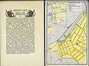 Orient Line, Perth and Fremantle handbill & 2 city plans