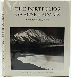 The Portfolios of Ansel Adams [with] signed and franked Ansel Adams photo postcard
