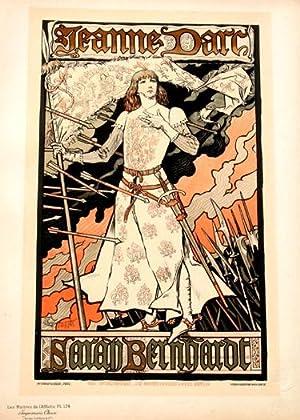 Jeanne Darc Sarah Bernhardt, Les Maitres de l'Affiche Pl. 174: Grasset, Eugene