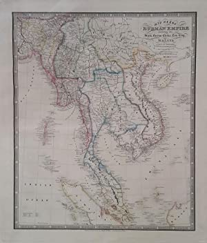 Map of the Burman Empire Including also Siam, Cochin-China, Ton-king and Malay From Calcutta to H...