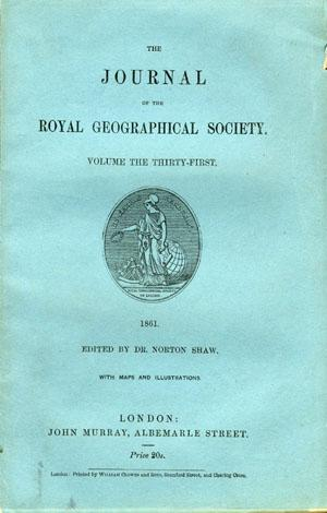 Journal of the Royal Geographical Society Volume 31, 1861